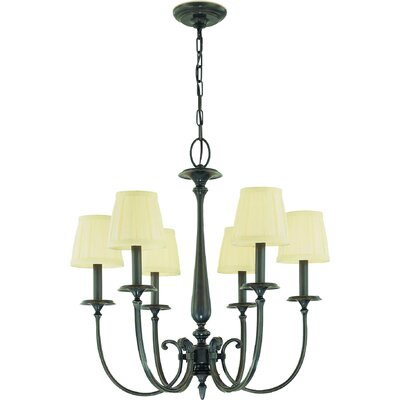 Calvert 6-Light Shaded Chandelier Finish: Old Bronze