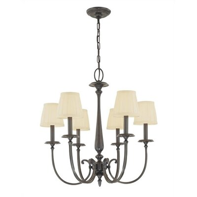 Calvert 6-Light Shaded Chandelier Finish: Polished Nickel