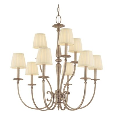 Calvert 9-Light Shaded Chandelier Finish: Antique Nickel