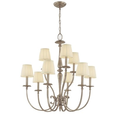 Calvert 9-Light Shaded Chandelier Finish: Polished Nickel