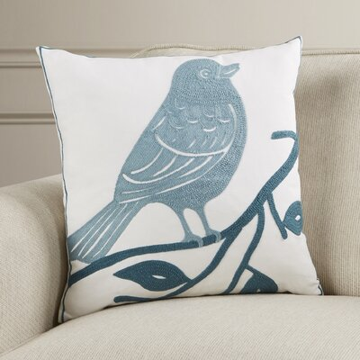 Lincolnshire Bird Cotton Throw Pillow