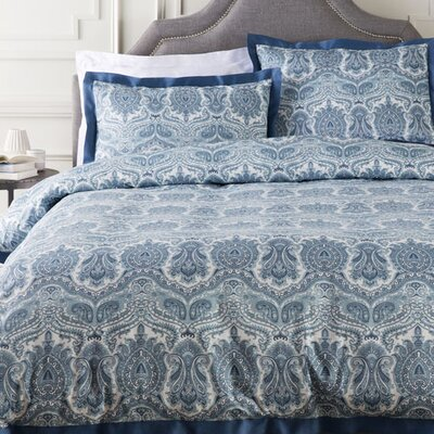 Jewett Duvet Set Color: Blue, Size: King