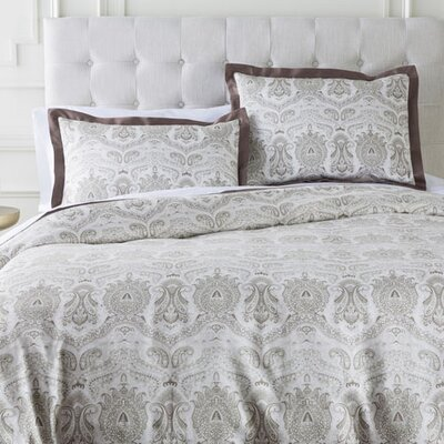 Jewett Duvet Set Size: King, Color: Neutral