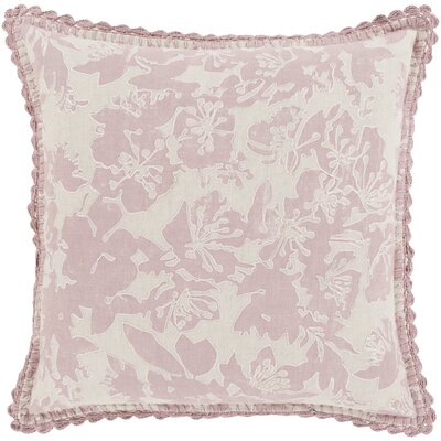 Rhinelander 100% Linen Throw Pillow Cover Size: 18 H x 18 W x 0.25 D, Color: GrayPink