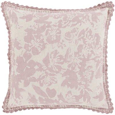 Rhinelander 100% Linen Throw Pillow Cover Size: 18 H x 18 W x 0.25 D, Color: GrayPink