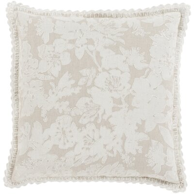Rhinelander 100% Linen Throw Pillow Cover Size: 18 H x 18 W x 0.25 D, Color: GrayNeutral