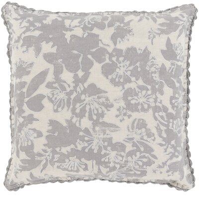 Ipava 100% Linen Throw Pillow Cover Size: 18 H x 18 W x 0.25 D, Color: Gray