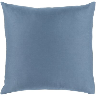 Jewett 100% Cotton Pillow Cover Size: 22 H x 22 W x 0.25 D, Color: Blue