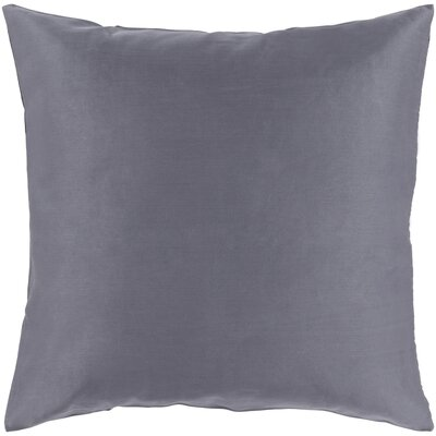 Jewett 100% Cotton Sateen Throw Pillow Cover Size: 20 H x 20 W x 0.25 D, Color: Gray