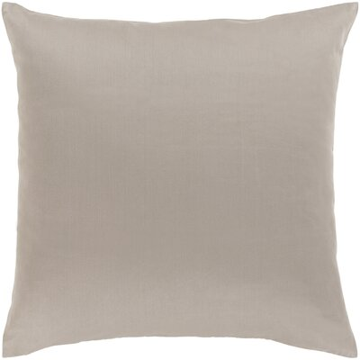 Jewett 100% Cotton Pillow Cover Size: 22 H x 22 W x 0.25 D, Color: Light Gray