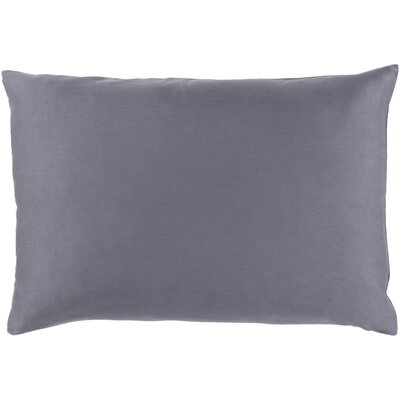 Jewett 100% Cotton Sateen Lumbar Pillow Cover Color: Gray