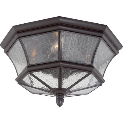 Mellen 3-Light Incandescent Flush Mount Finish: Mystic Black