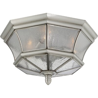 Mellen 3-Light Incandescent Flush Mount Finish: Pewter