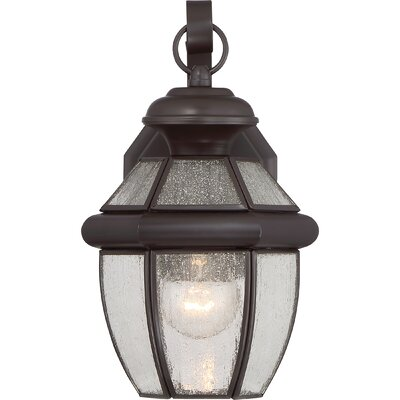 Saddler 1-Light Outdoor Wall Lantern Size: 12.5 H x 7 W x 6.75 D