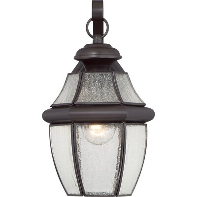 Saddler 1-Light Outdoor Wall Lantern Size: 14 H x 9 W x 8 D