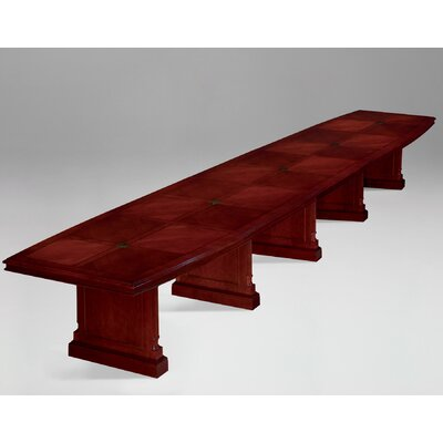 Prestbury Expandable Boat Shaped Conference Table Size: 20 L