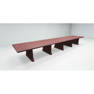 Prestbury Expandable Rectangular Conference Table Size: 20 L