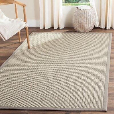 Natural Fiber Gray Area Rug Rug Size: 4 x 6