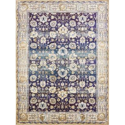 Rennick Dark Blue/Beige Area Rug Rug Size: 106 x 165