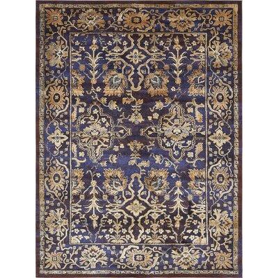 Rennick Beige/Red/Dark Blue Area Rug Rug Size: 106 x 165