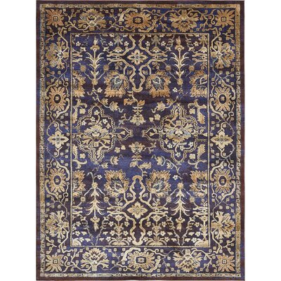 Rennick Beige/Red/Dark Blue Area Rug Rug Size: Rectangle 7 x 10