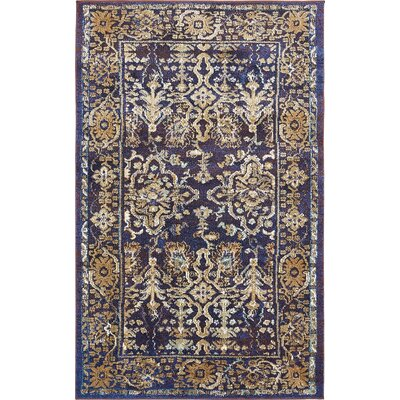 Rennick Beige/Red/Dark Blue Area Rug