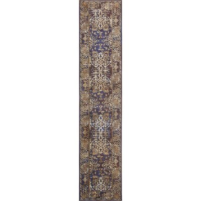 Rennick Beige/Red/Dark Blue Area Rug Rug Size: Runner 27 x 122