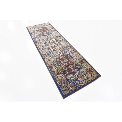 Rennick Beige/Red/Dark Blue Area Rug Rug Size: Runner 22 x 67