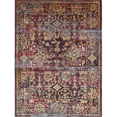 Rennick Red/Beige Area Rug Rug Size: 106 x 165