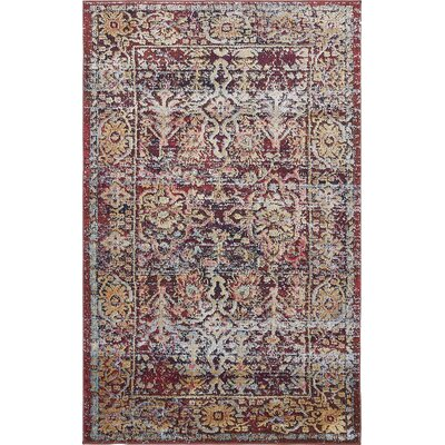 Rennick Red/Beige Area Rug