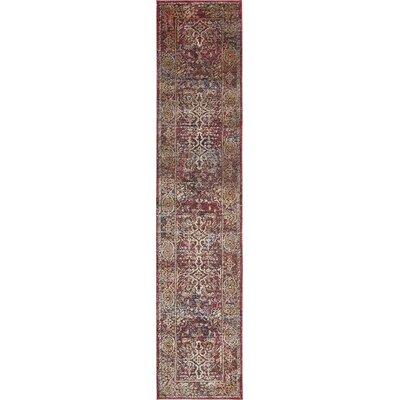 Rennick Red/Beige Area Rug Rug Size: Runner 27 x 122