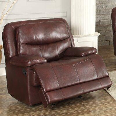 Golston Glider Recliner Upholstery: Burgundy
