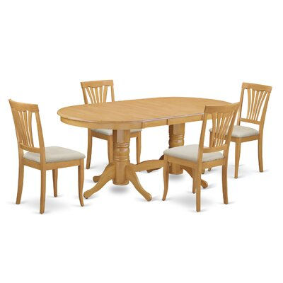 Rockdale 5 Piece Dining Set Chair Upholstery: Upholstered