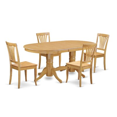 Rockdale 5 Piece Dining Set Chair Upholstery: Non-Upholstered Wood