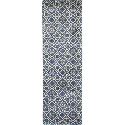 Danforth Hand-Tufted Navy Area Rug Rug Size: Runner 26 x 8