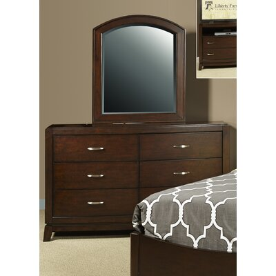 Loveryk 6 Drawer Dresser with Mirror
