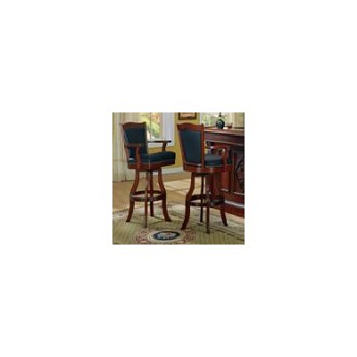 Selvidge 30 Swivel Bar Stool (Set of 2) Finish: Distressed Walnut