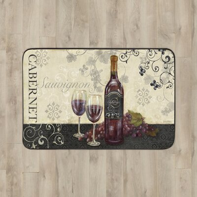 Larson Glasses of Wine Kitchen Mat