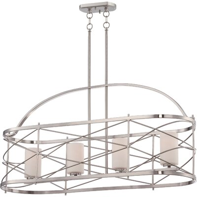Farrier 4-Light Kitchen Island Pendant Finish: Brushed Nickel