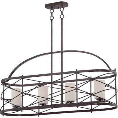 Farrier 4-Light Kitchen Island Pendant Finish: Old Bronze