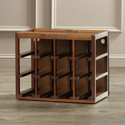 Leopold 12 Bottle Tabletop Wine Rack Finish: Walnut Stain