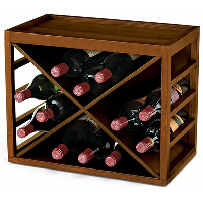 Leopold 12 Bottle Wine Rack Finish: Walnut Stain