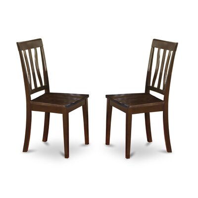 Caledonia Side Chair (Set of 2) Finish: Cappuccino
