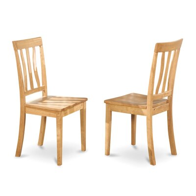 Caledonia Side Chair (Set of 2) Finish: Oak
