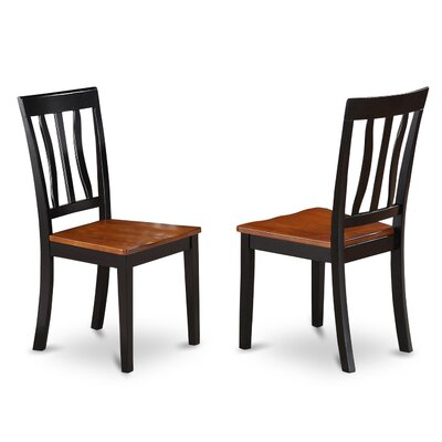Woodward Side Chair (Set of 2) Finish: Black and Cherry