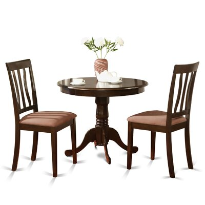 Caledonia 3 Piece Bistro Set Finish: Cappuccino