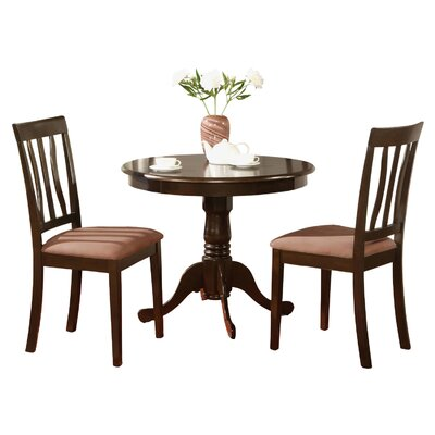 Woodward 3 Piece Bistro Set Finish: Cappuccino