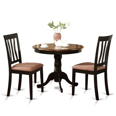 Caledonia 3 Piece Bistro Set Finish: Black