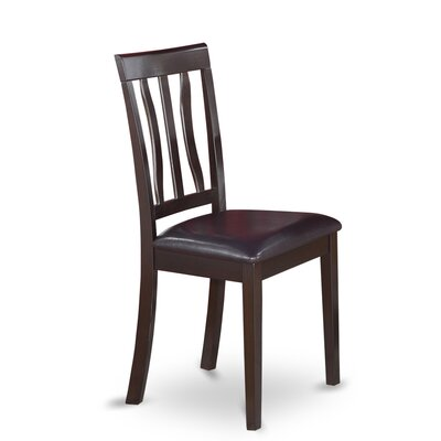Woodward Rubberwood Side Chair (Set of 2) Color: Cappuccino