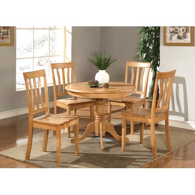 Woodward Traditional 5 Piece Dining Set Finish: Oak, Chair Upholstery: Non-Upholstered Wood